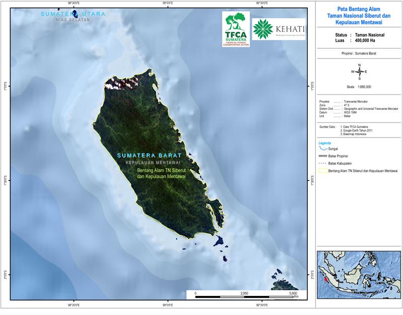 Taman Nasional Siberut Dan Kepulauan Mentawai Tfca Sumatera