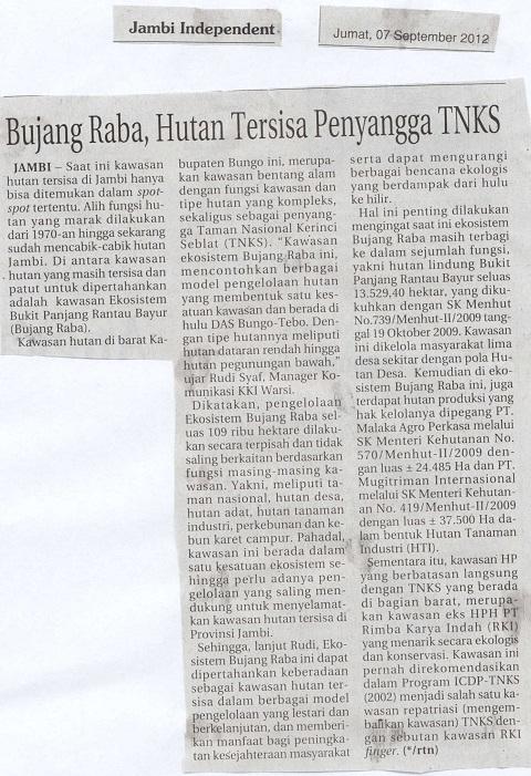 Jambi Independent, Jumat,7 September 2012