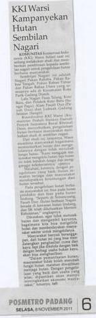 KKI Warsi Kampanyekan Hutan 9 nagari