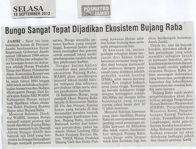 Posmetro Jambi, Selasa, 18 September 2012