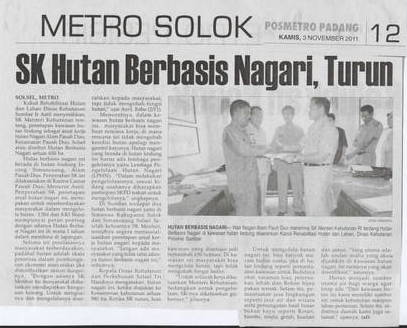 SK Hutan Berbasis Nagari