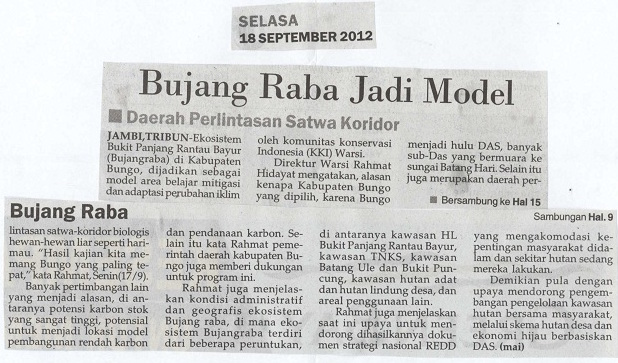 Tribun Jambi, Selasa, 18 September 2012