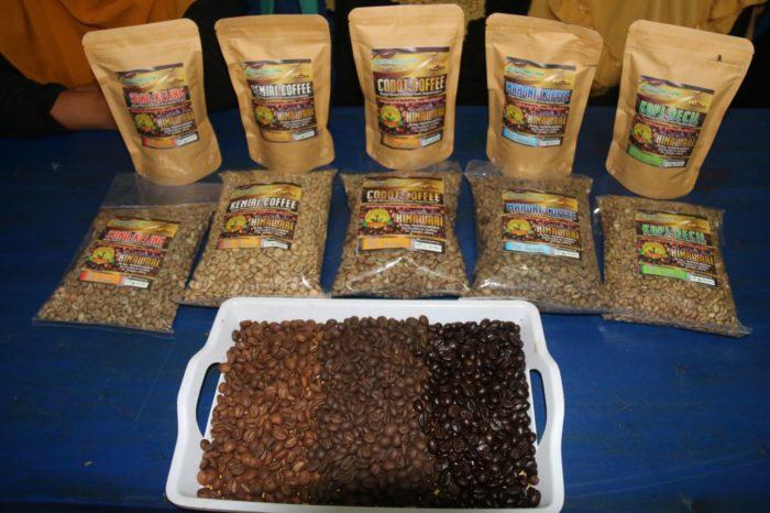 Beberapa produk kopi dari dampingan KORUT.